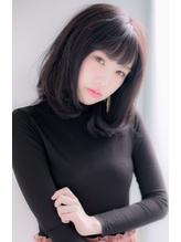 【Euphoria】暗髪で大人キュートな小顔ワンカールミディー キュート.34