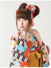 【卒業式・袴ヘア】レトロかわいいおリボンヘア♪★夢館★ 猫耳.56
