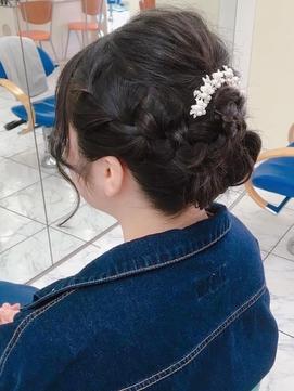 〈ラピッシュ桜田〉結婚式お呼ばれへアセットヘアアレンジ