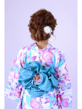 <浴衣アレンジ>ふんわりルーズな編込みアップヘア【富山】 まとめ髪.26
