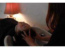 寝室をイメージしたシャンプーブース。頭~脚までリラックス…☆