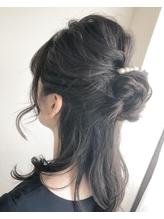 【ao hair garden】お団子ハーフアップスタイル.3