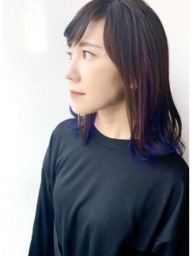 ☆ブルー系インナーカラー☆