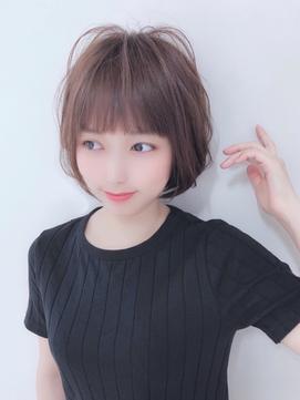 【ANAZAhair/難波】ショートボブ&ミルクティベージュ&エアリー感