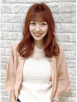 ★韓国風★ナチュ可愛アプリコットオレンジ