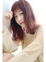 ☆Arlel 池袋☆ツヤ感チェリーレッドカラー☆外ハネこなれカール.8