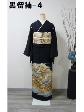 レンタル黒留袖-4(鶴山水)黒留袖