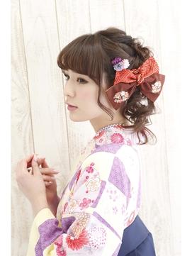 【池袋Neolive 】卒業式 袴着付け & ヘアセット ¥13200