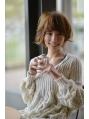 顔周りを縁取るカールが可愛いスウィーティーボブ☆ by sessa