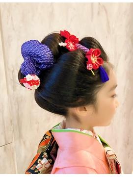 七五三日本髪ーふっくら可愛い舞子風ー 正面写真