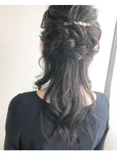 【ao hair garden】お団子ハーフアップスタイル.4