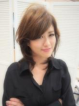 【篠原 岳努】美シルエット☆小顔くびれミディアムネオウルフ☆*.3