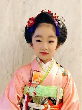 七五三日本髪ーふっくら可愛い舞子風ー 側面写真