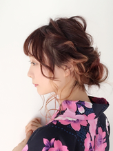 【ruf  hair design】簡単浴衣アレンジ.13