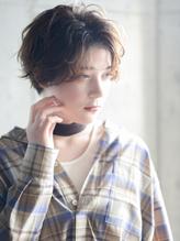 毛先パーマ ことりベージュ マニッシュショート フレンチボブ.14