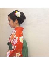 卒業式アップスタイル 浴衣.29