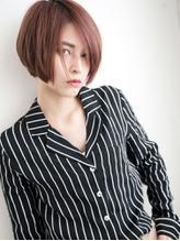 モーヴカラー×ノーバング☆アーバンフィールなふわタイトボブ♪ フェミニン.43