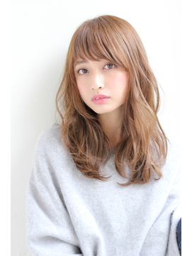 【GARDEN】フォギーベージュ×短め前髪が可愛いロング(田塚裕志)