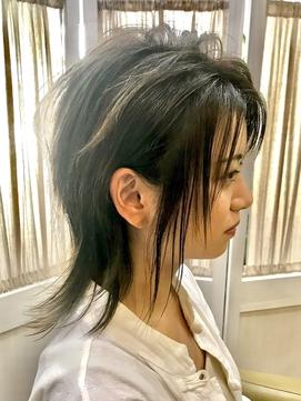 【コトノハ】ロングウルフくすみカラー涼しげヘア クールヘア