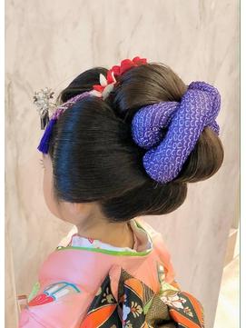 七五三日本髪ーふっくら可愛い舞子風ー 背面写真