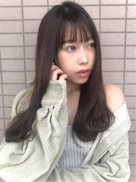 マロンベージュカラー☆薄め前髪のワンカールストカール