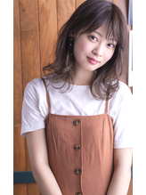 グレージュ×切りっぱなしラフミディ【hair design collet】.24
