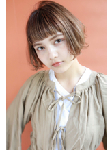 【DECO・穂積聡】マチルダボブ×オレンジベージュハイライト.37