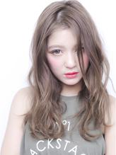 ハイトーングレージュカラー☆愛されふんわりールセミロング .37