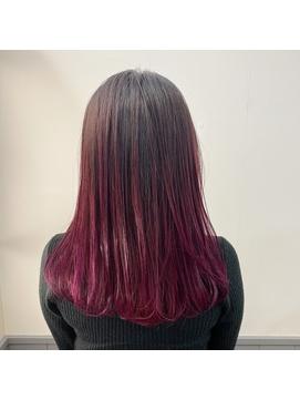 【赤髪】カシス_グラデーションカラー