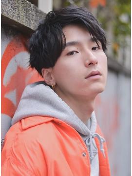 【エイチ原宿/GAKU】ショートレイヤー/かき上げヘア