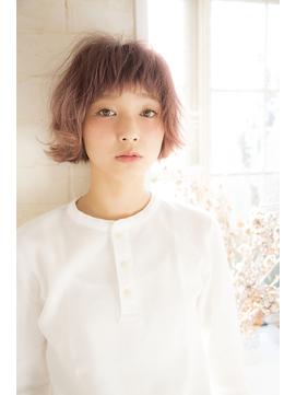 [Garland/表参道]スモーキーピンク☆甘辛ショートボブ