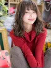 ■bliss戸田公園9★■くせ毛風♪アシンメトリーセミディ ピュア.60