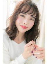 *CUORE松戸*…ボルドーカラー☆くせ毛風セミディa.49