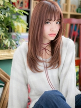 *+COVER HAIR+*…ガーリーピンクのカジュアルロングa .7