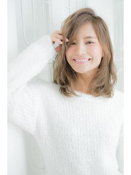 ミディアム~ふんわりバング~ベージュ☆彡