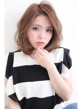 20代・30代・40代に似合うアッシュ☆小顔ワンカールミディアム★