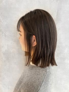 くせ毛、多毛、剛毛でも→酸熱で、切りっぱなしワンレンボブ☆