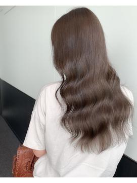 髪質改善カラー×ブリーチなし透明感グレージュカラー