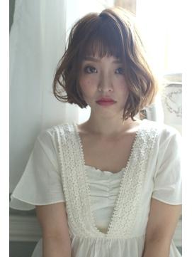 外国人風シフォンボブ 【caren by neolive 武蔵小杉店】