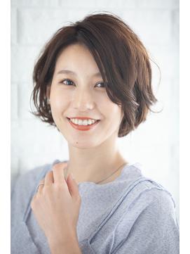 【Rire-リル銀座-】ハネ感のある小顔耳かけショートボブ☆