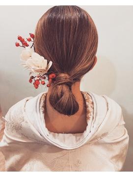 花嫁艶シンプルヘア