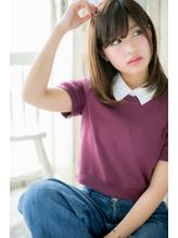 しっとりまとまる☆フェミニンストレートa くびれカール.9