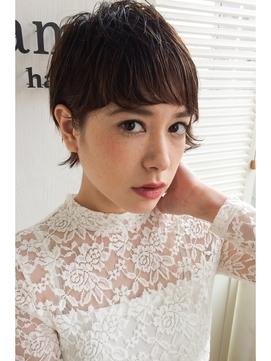 【lamphair 】黒髪◎外国人風ウエットキュートショート♪No.1