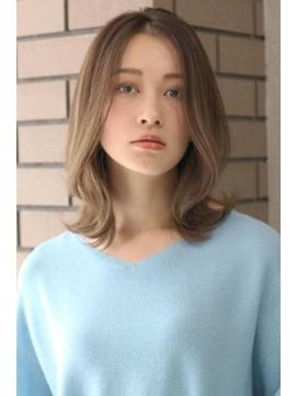 【nex表参道】 前髪なし 大人かわいい ミディアム