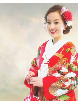 【和装】色打掛★花嫁さんのシニヨンヘアアレンジ1