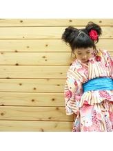 【キッズヘアセット】フワフワかわいいふたつお団子.6