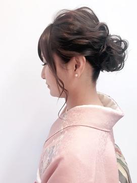 【@lucia_yuna_style】お着物にも♪ふんわり綺麗めヘアセット