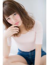 ナチュラルグラデーションカラー☆オシャレ小顔ミディアム パーティ.33