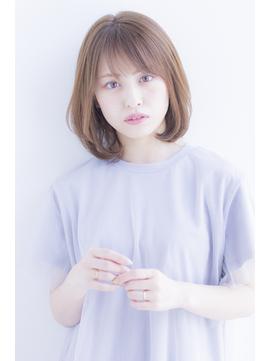 【寺尾拓巳】大人かわいいひし形ワンカールパーマミディアムボブ
