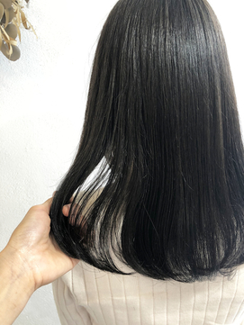 【ekolu中原】人気!髪質改善ゼロアルカリストレート×グレージュ